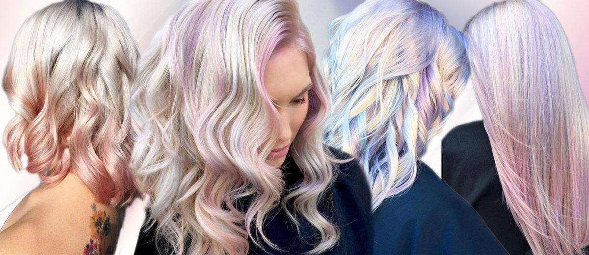 Opálové vlasy neboli Hollywood Opal hair jsou hitem pro účesy 2018.