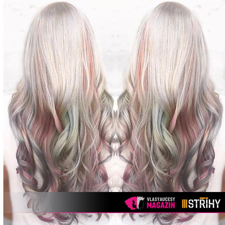 Trend opálových vlasů má mnoho variant: co tak zkusit odstín cukrové vaty nebo frozen blond?