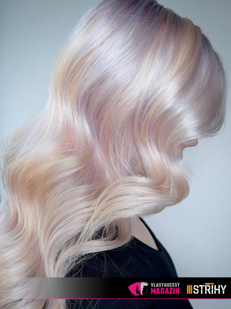 Opálové vlasy: Hollywood Opal hair tak, jak jej nadefinovali v salonu Ross Michael Salon.
