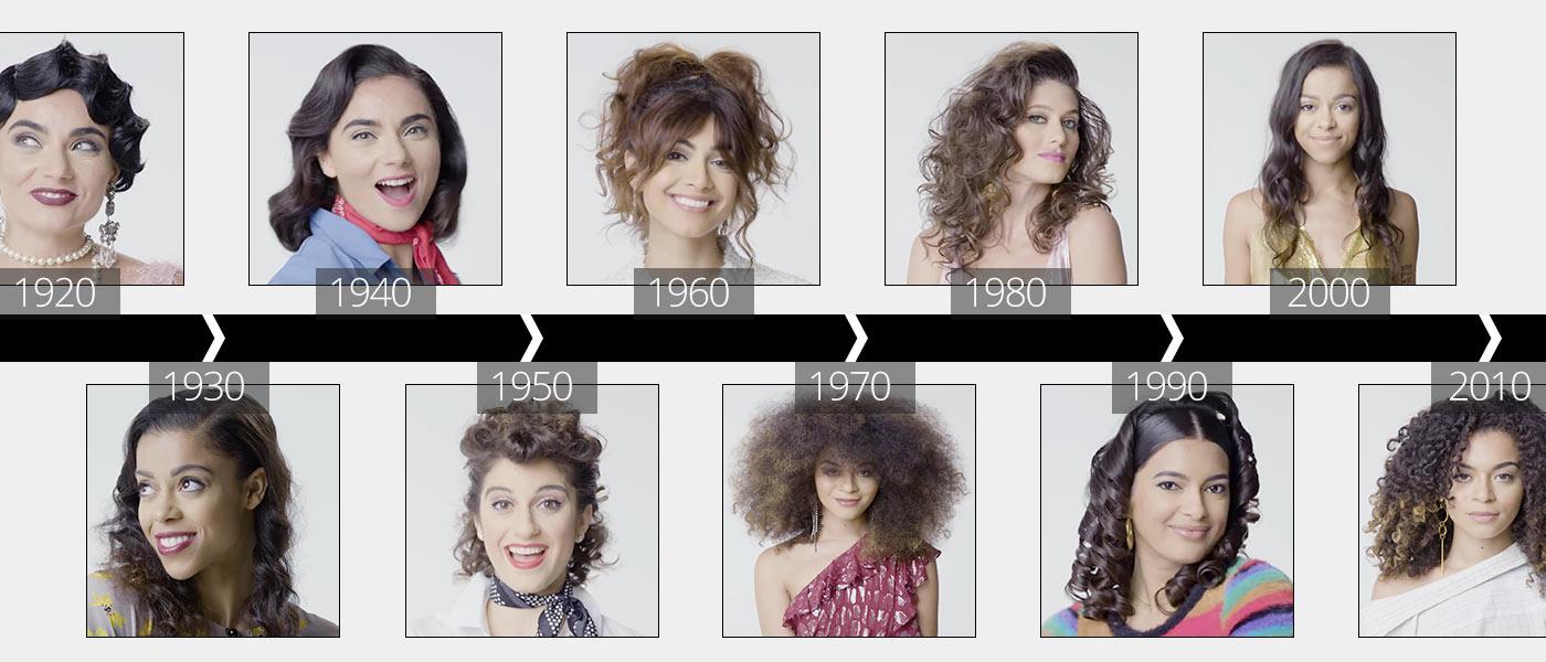 100 let kudrnatých vlasů: Podívejte se na unikátní video, jak se během 100 let po jednotlivých desetiletích měnila móda pro kudrnaté vlasy. Od elegantních a emancipovaných 20. let až po dnešek.