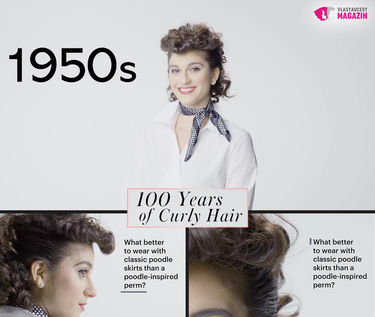 100 let kudrnatých vlasů: Vlnité účesy 50. léta, to je poodle haircut, neboli na pudla.