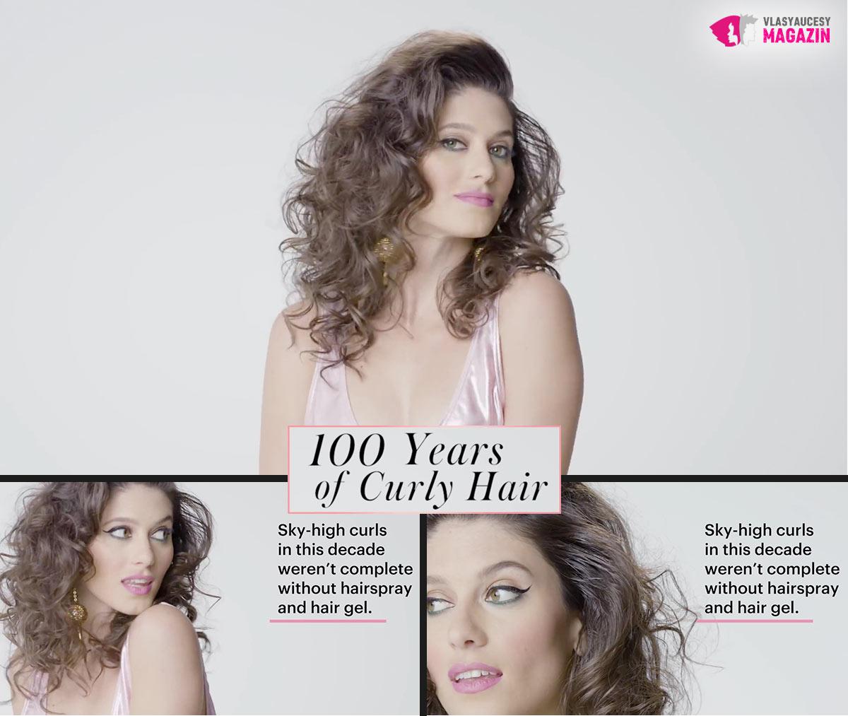100 let kudrnatých vlasů: Kudrnaté a vlnité účesy 80. léta, to jsou učesané vlny.