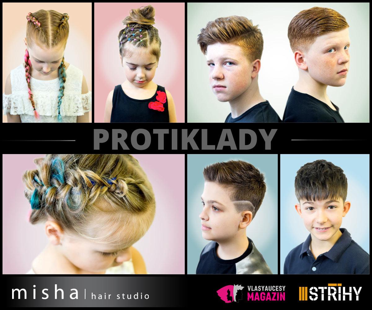 Dětské účesy 2018: Misha/hair Studio představuje kolekci Protiklady.