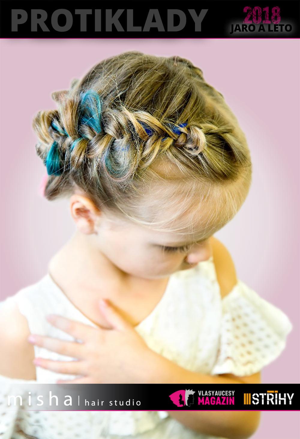 Dívčí slavnostní účes 2018 z kolekce Protiklady Misha/hair Studio.