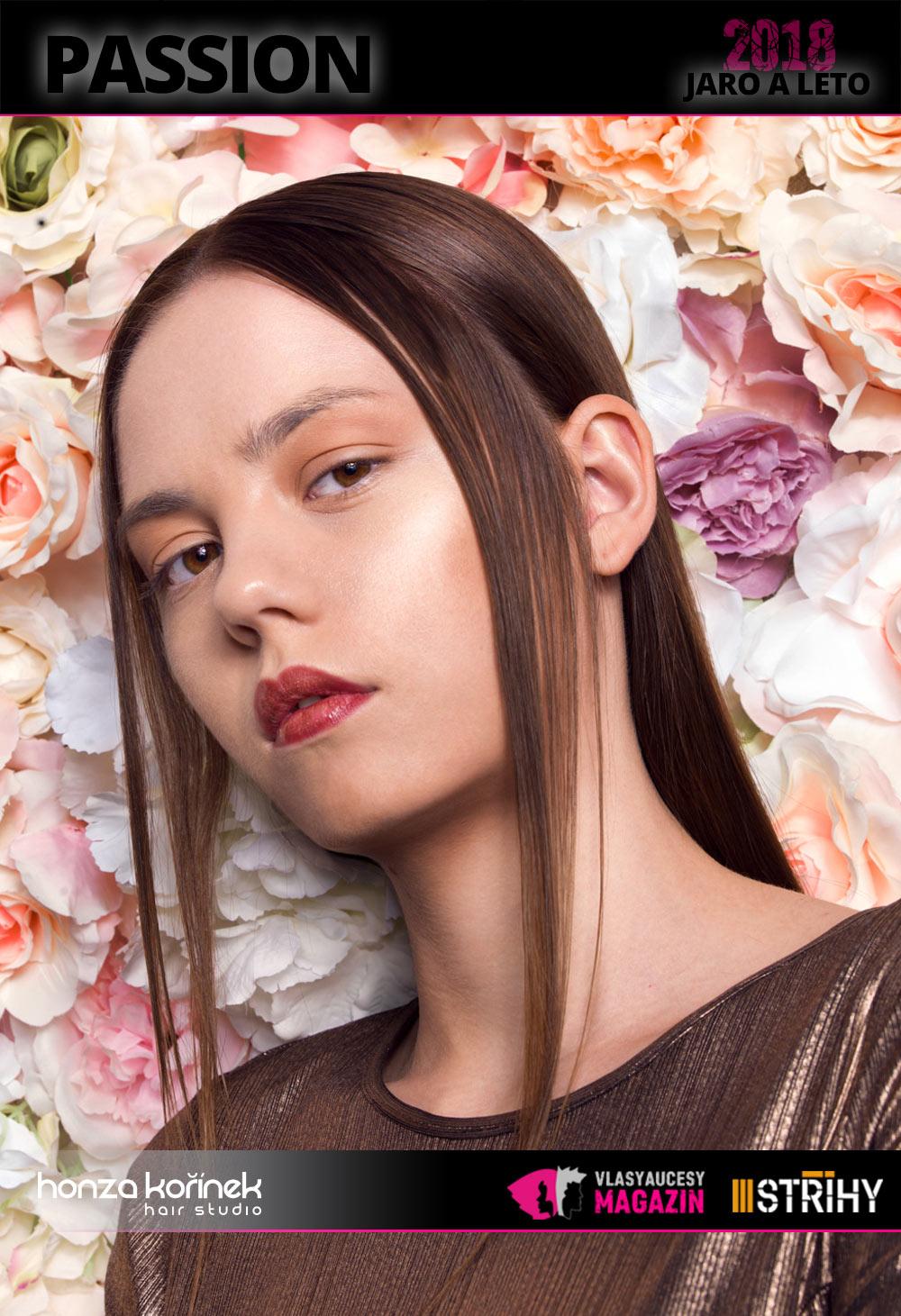 Honza Kořínek: Passion (S/S 2018): Hladké vlasy jako symbol luxusu – i to je jedno z poselství nové kolekce Honzy Kořínka pro jaro a léto 2018.