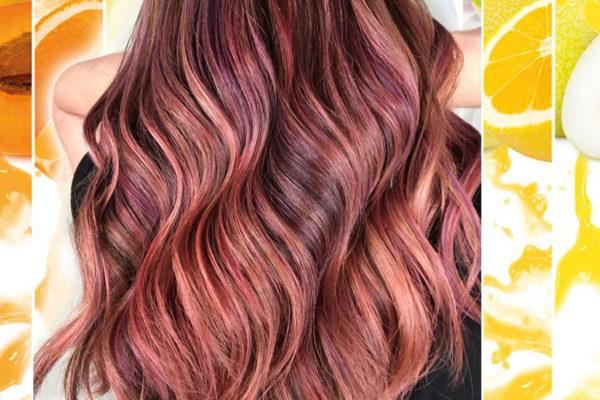 Fruit Juice Hair aneb vlasy v barvě ovocného džusu jsou hitem pro podzim 2018.