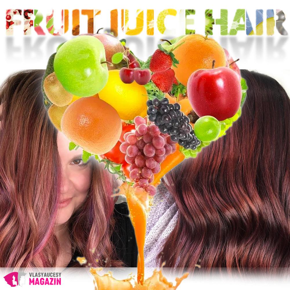 Fruit Juice Hair aneb vlasy v barvě ovocného džusu jsou novým hitem Instagramu.
