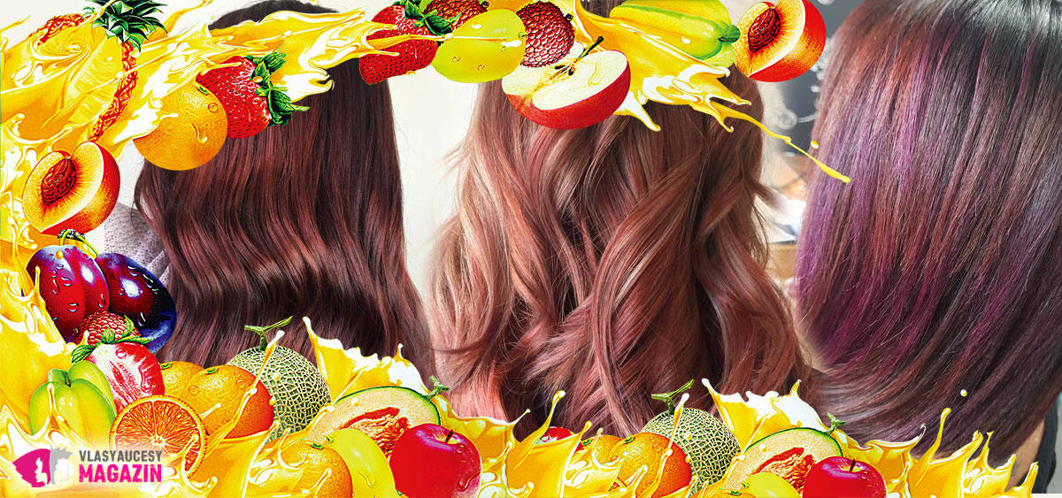 Fruit Juice Hair – lesklé tekoucí melíry v barvě ovocného džusu jsou hitem pro podzim 2018.